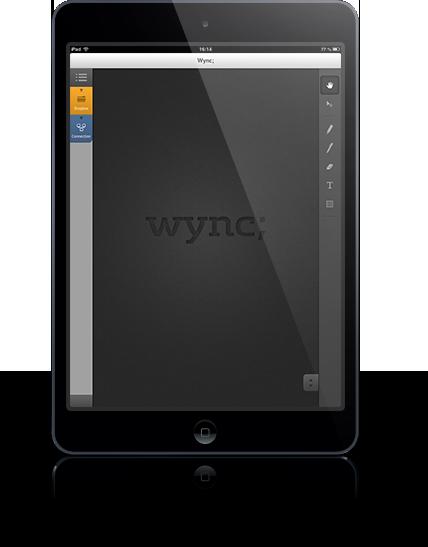 Wync på iPad Mini